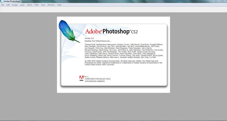 Photoshop opening