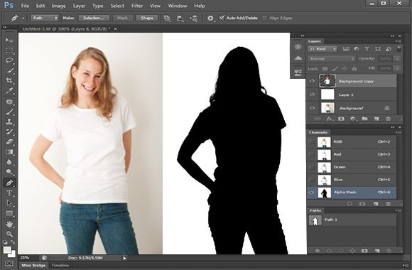 Photoshop Image Mask Working Process