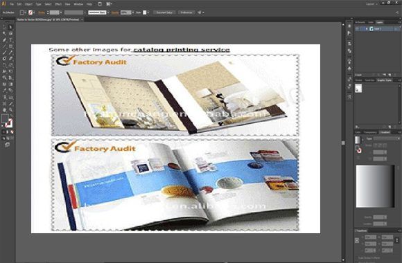 page composition sample image