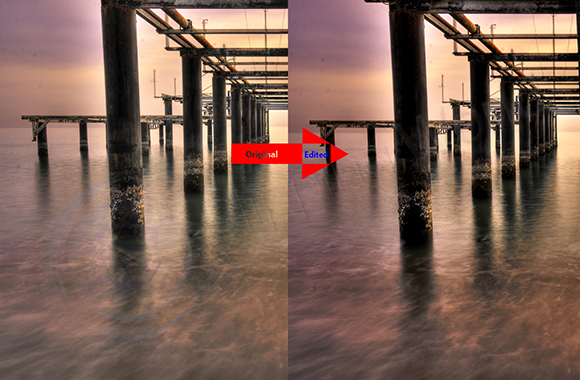 HDR photo editing before after image