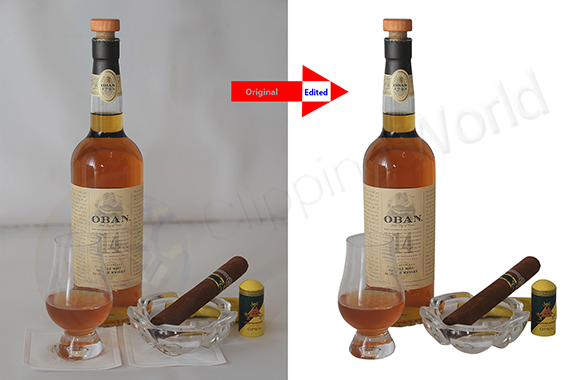 product Photo Editing before after image