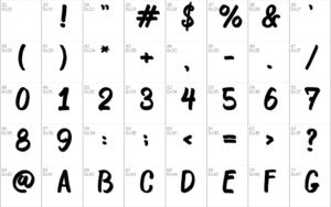 Bosk font