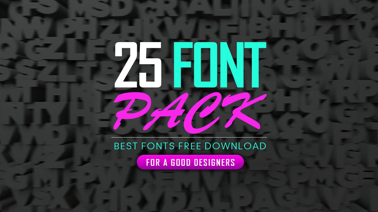 Best 25 Fonts for Graphic Designer