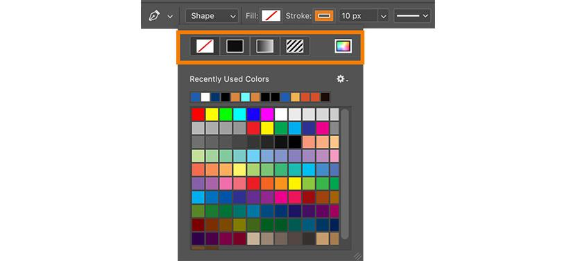 Pen Tool options bar | Photoshop Pent Tool