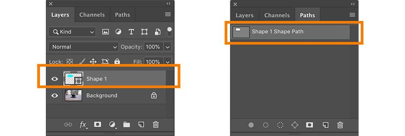 Create a shape using the Photoshop Pen Tool