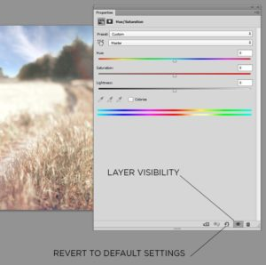 Hue and Saturation in Photoshop
