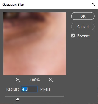 Gaussian Blur Adjustment of Frequency Separation