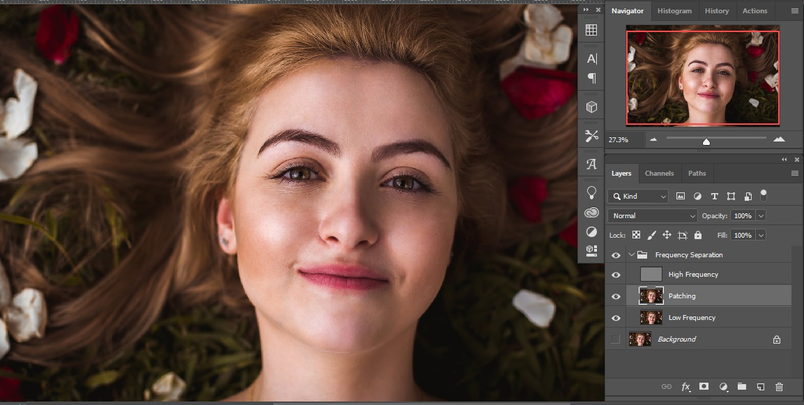 After Patching of photoshop Frequency Separation