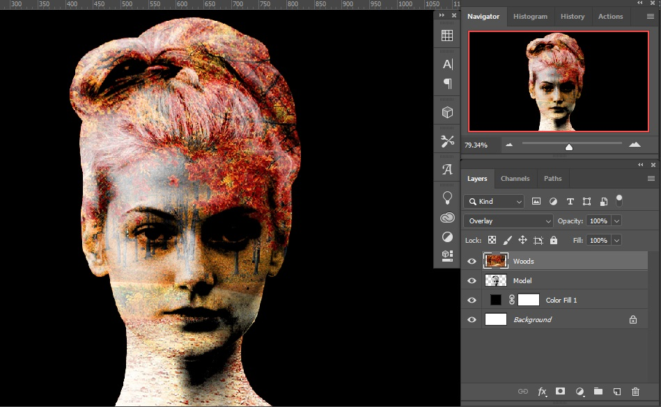 Blend Mode implementation _ Double Exposure Effects in Photoshop