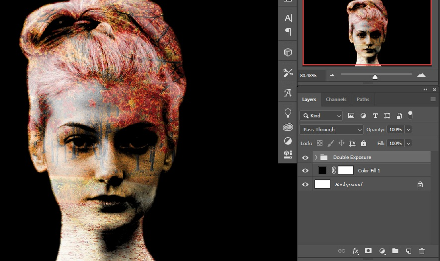 Group making _ Double Exposure Effects in Photoshop