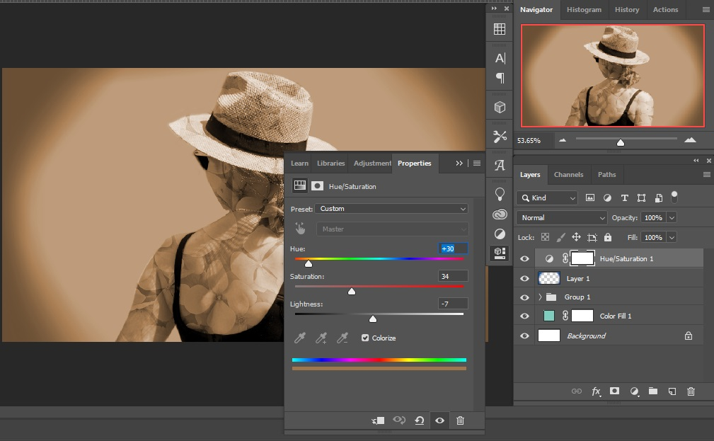 Colorization and gradient