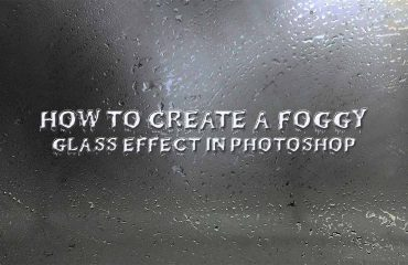 Foggy glass effect in Photoshop