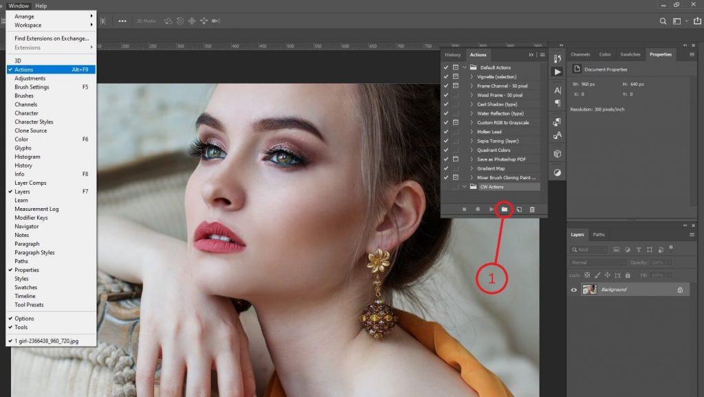 Screenshot - Photoshop Action Panel