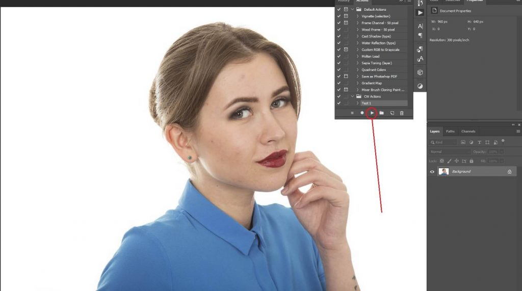 Photoshop Action Panel
