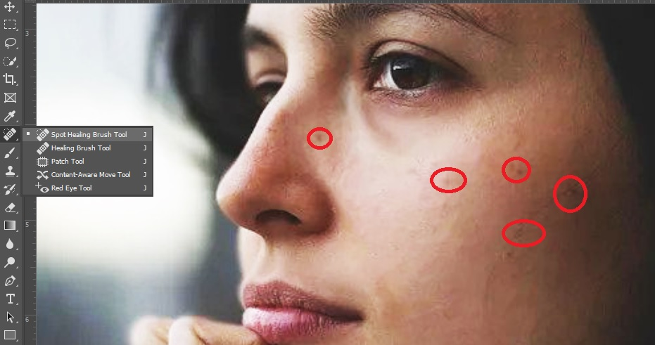 Spot & Impurities Removal (Headshot Retouching in Photoshop)