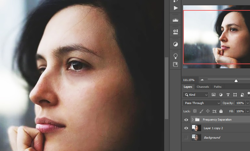Frequency Separation (Headshot Retouching in Photoshop)