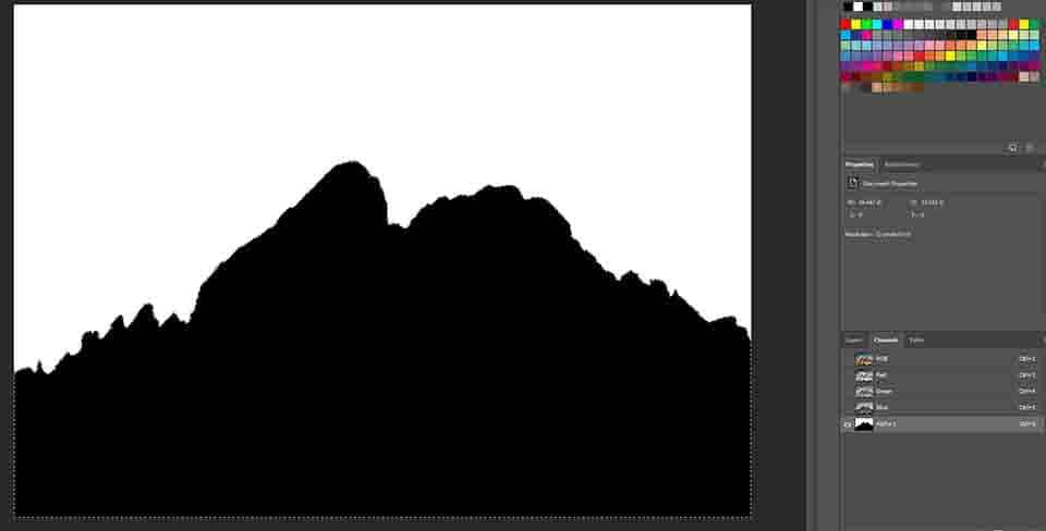 black & white image transparent background