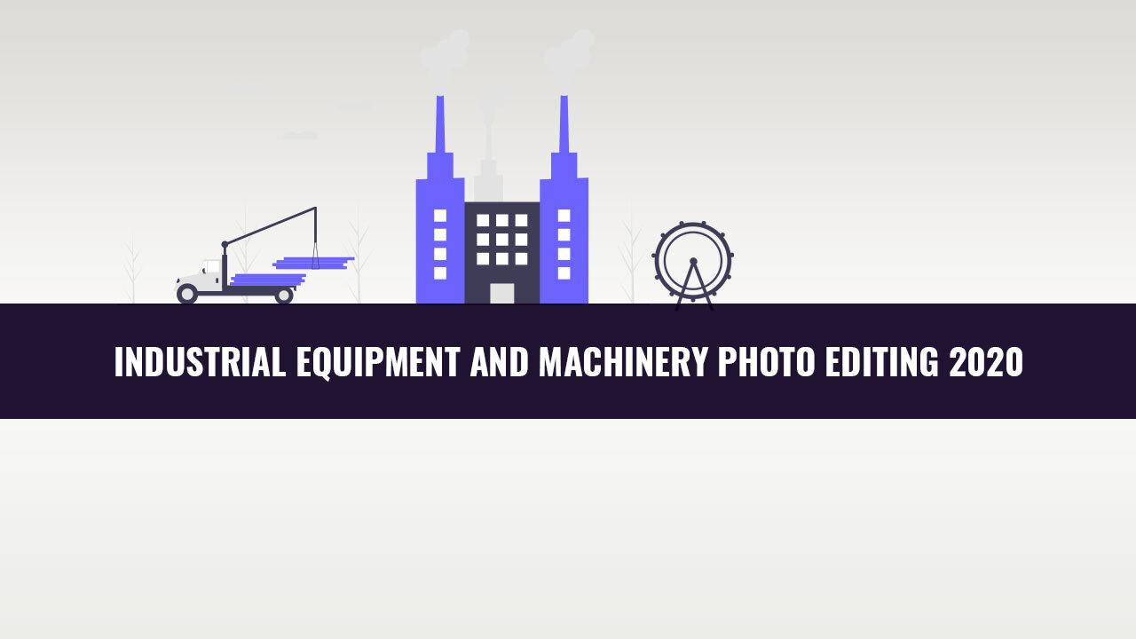 industrial uquipment and machinery photo editing banner