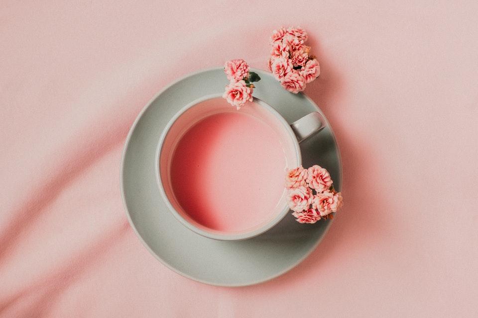 Colorful tea cup