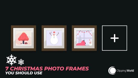7 christmas frames: cover photo