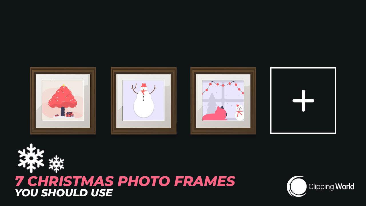 7 christmas frames: cover photo