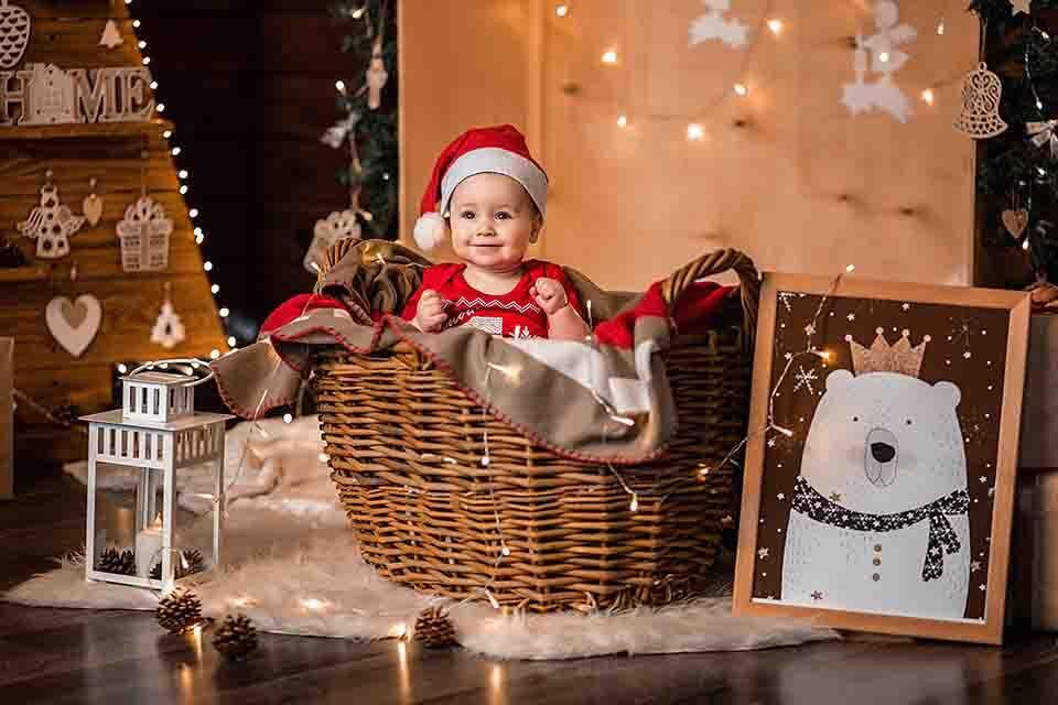 christmas props on photo