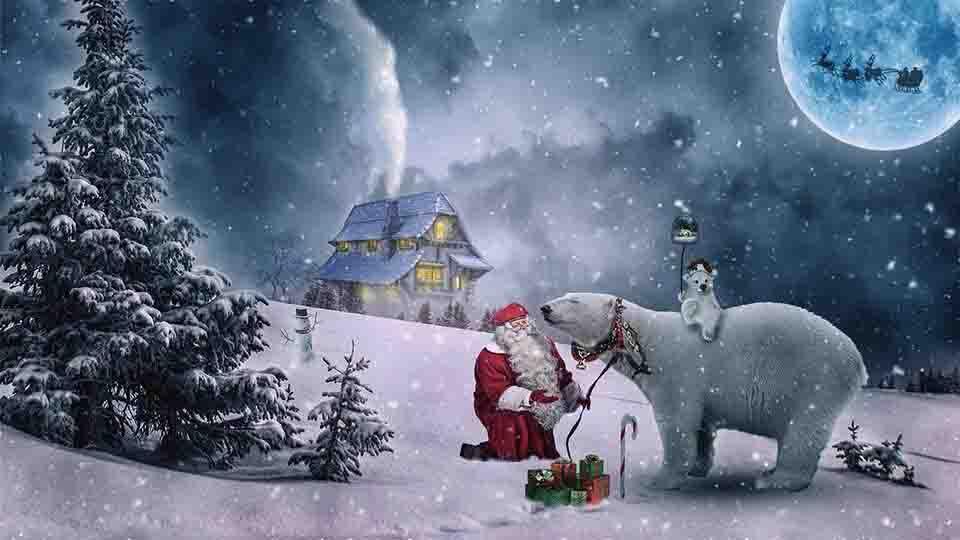 christmas snow effect photo