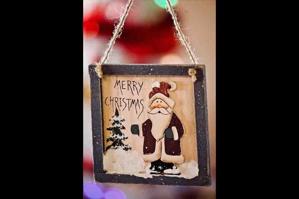 Santa Claus shape christmas Photo frame