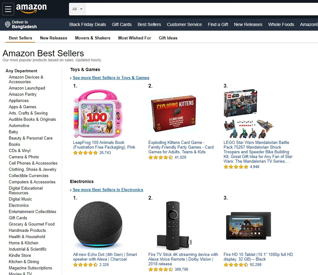 how to find trending products on Amazon