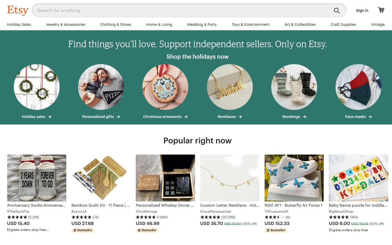 how to find trending products on etsy