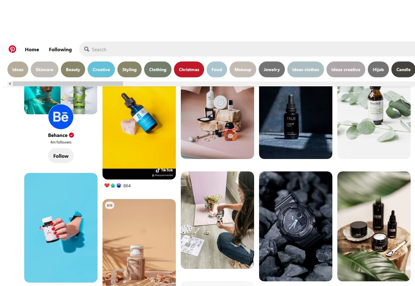 Pinterest to find trending products