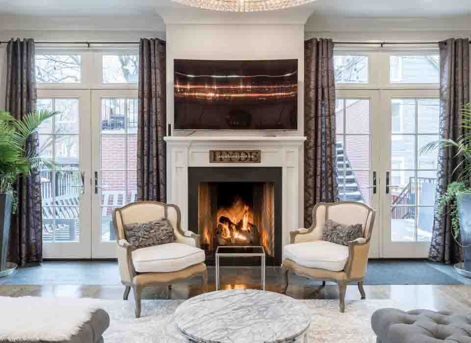 fire effects on fireplace