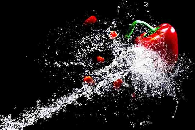 A water splash of chili, becoming a photographer.