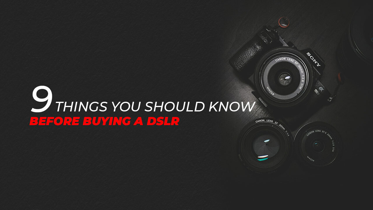 dslr with text saying
