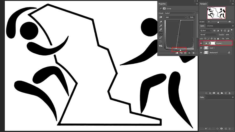 correcting edges with curves adjustment layer (Low-Resolution To High-Resolution)