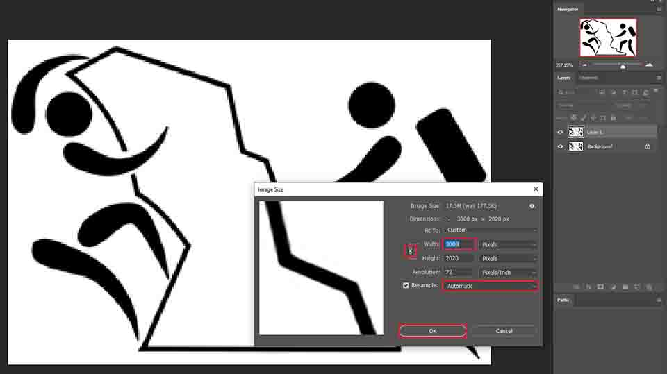 increasing image size in photoshop (Low-Resolution To High-Resolution)