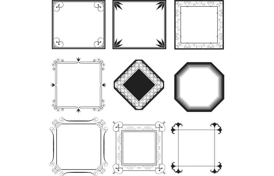 gallery frames for photoshop
