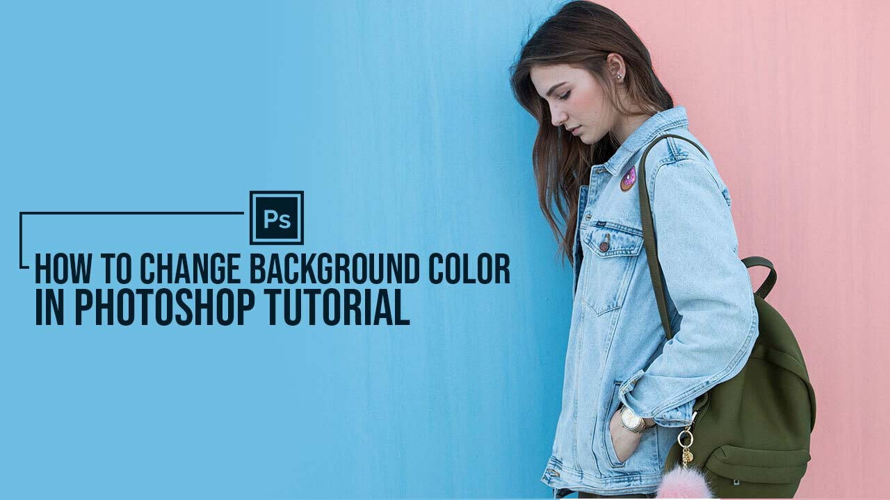 How to change background color in Photoshop tutorial