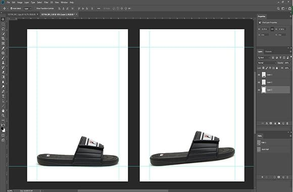 Shoe Image Straightening and adjusting alignment