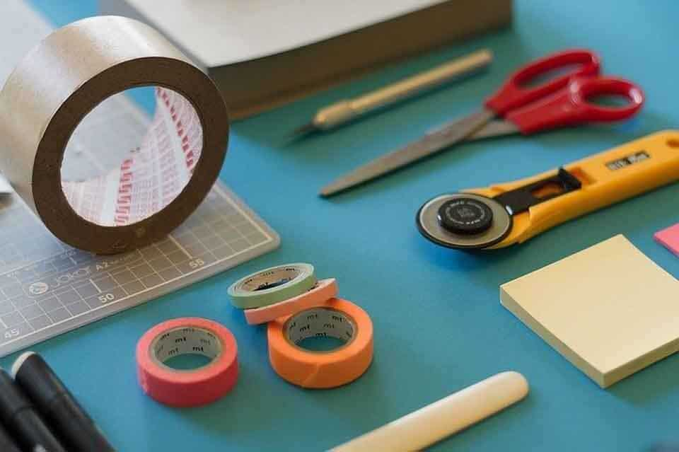 product photography tips on using tape