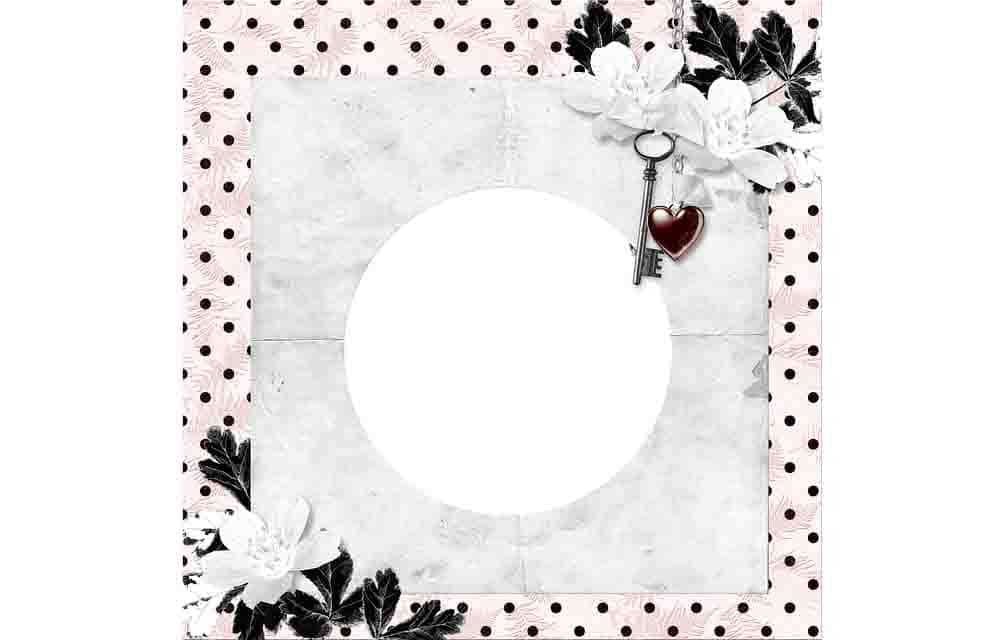 love frame to use in image