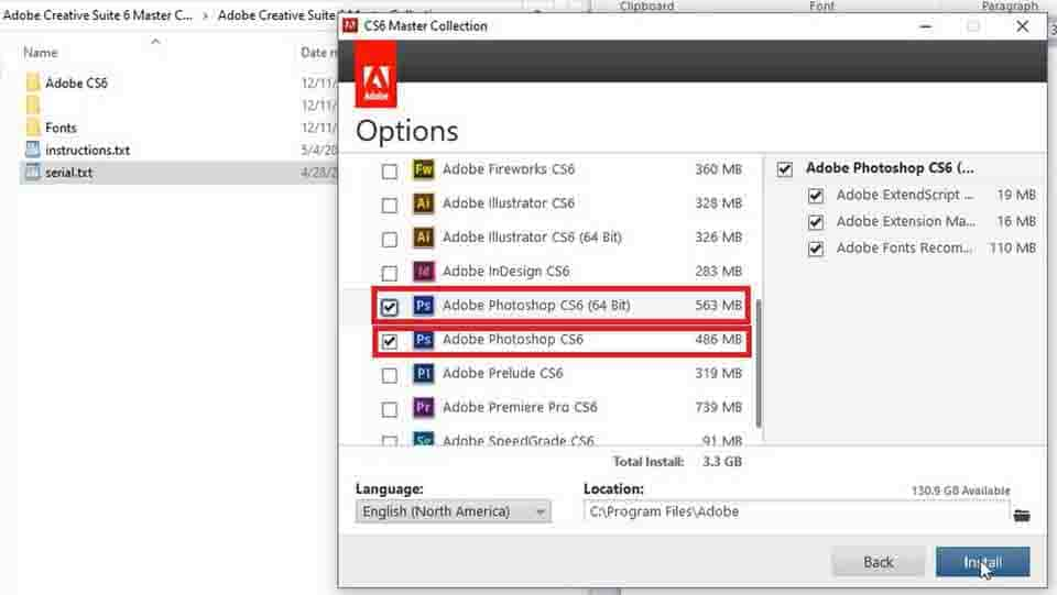 select adobe photoshop cs6 options only (Photoshop CS6 download and installation)