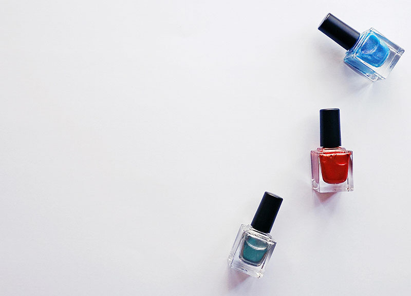 3 nail polish with white background to show the best product photo editing methods