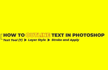 text outline effect in photoshop