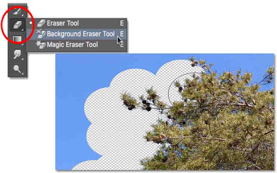eraser tool (Tools in Photoshop)