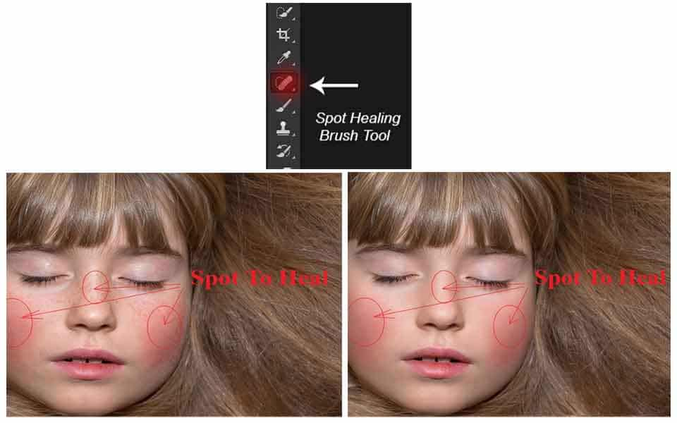 spot healing brush tool (Tools in Photoshop)