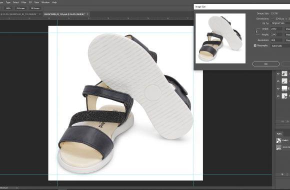 Shoe photo editing service