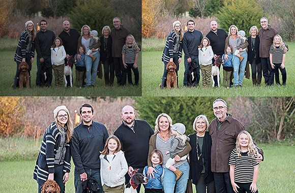 Family portraits editing and retouching
