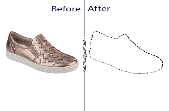 Shoe Image Clipping Path