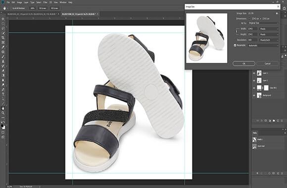 Shoe Image Cropping Resizing
